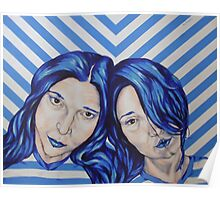 stripey sisters Poster