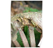rusty old wagon wheel... Poster