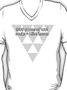 1000 grams of wet socks = 1 literhosen T-Shirt