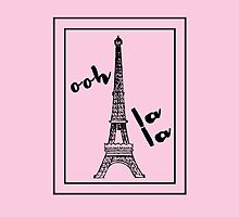 Ooh la la with Eiffel Tower Paris Love by Greenbaby