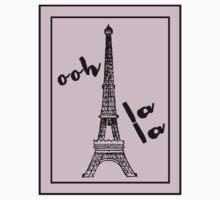 Ooh la la with Eiffel Tower Paris Love One Piece - Short Sleeve