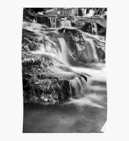 (Blue) Falls BW Poster