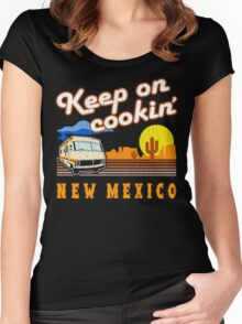 Keep on Cookin'! ('80s Vintage Distressed Look) Women's Fitted Scoop T-Shirt