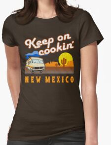 Keep on Cookin'! ('80s Vintage Distressed Look) Womens Fitted T-Shirt