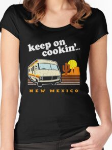 Funny - Keep on Cookin'! (Distressed Vintage Look) Women's Fitted Scoop T-Shirt