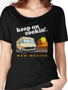Funny - Keep on Cookin'! (Distressed Vintage Look) Women's Relaxed Fit T-Shirt