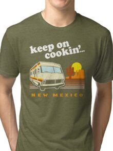 Funny - Keep on Cookin'! (Distressed Vintage Look) Tri-blend T-Shirt
