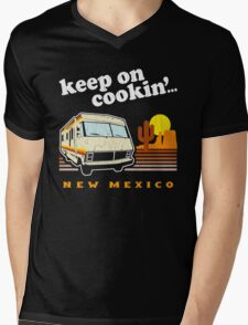 Funny - Keep on Cookin'! (Distressed Vintage Look) Mens V-Neck T-Shirt