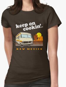 Funny - Keep on Cookin'! (Distressed Vintage Look) Womens Fitted T-Shirt