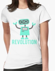 Robot Revolution Uprising Womens Fitted T-Shirt