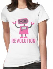 Robot Revolution Uprising Womens Fitted T-Shirt