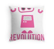 Robot Revolution Uprising Throw Pillow