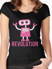 Robot Revolution Uprising Women's Fitted Scoop T-Shirt