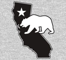 California State Flag Bear (blackout style) One Piece - Short Sleeve