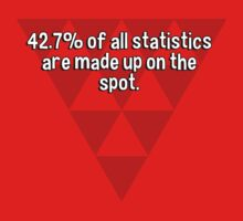 42.7% of all statistics are made up on the spot. by margdbrown