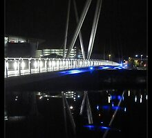 Newport City Footbridge Reflection by Tim Topping