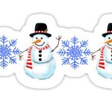 snowy border Sticker