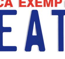 Government Plates Sticker