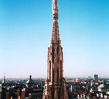 Overlooking Milan from the Duomo di Milano, Italy by Elana Bailey