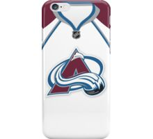 Colorado Avalanche Away Jersey iPhone Case/Skin