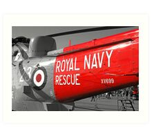 Royal Navy Rescue Helicopter Art Print