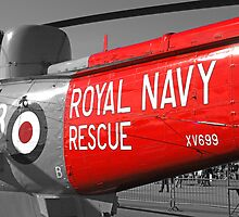Royal Navy Rescue Helicopter by Chris L Smith