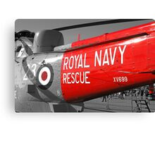 Royal Navy Rescue Helicopter Canvas Print