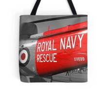 Royal Navy Rescue Helicopter Tote Bag