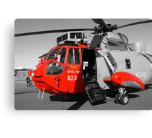 Royal Navy Rescue Helicpoter Canvas Print