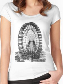 Vintage Ferris Wheel Chicago Fair Women's Fitted Scoop T-Shirt