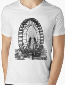 Vintage Ferris Wheel Chicago Fair Mens V-Neck T-Shirt