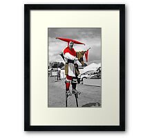 Man on Stilts Framed Print
