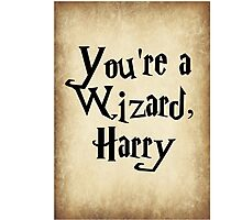 Harry Potter Quotes Photographic Print
