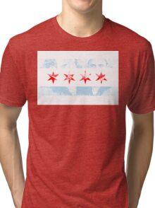 Chicago Al Capone Flag Tri-blend T-Shirt