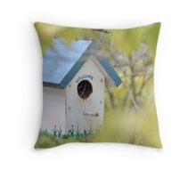 Birdhouse, #1 Throw Pillow
