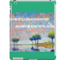 BESIDE THE STILL WATERS iPad Case/Skin