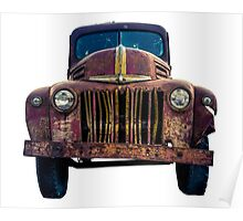 Rusty Ford Pickup Truck Poster