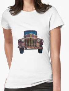 Rusty Ford Pickup Truck Womens Fitted T-Shirt