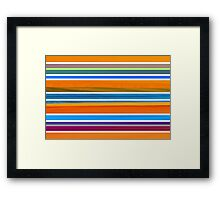 Colorful Striped Seamless Pattern Framed Print