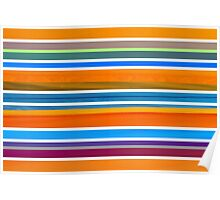 Colorful Striped Seamless Pattern Poster