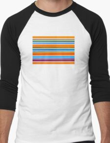 Colorful Striped Seamless Pattern Men's Baseball ¾ T-Shirt