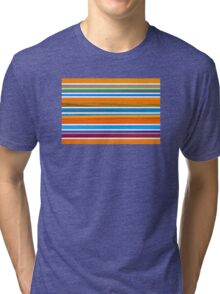 Colorful Striped Seamless Pattern Tri-blend T-Shirt