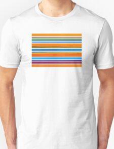 Colorful Striped Seamless Pattern Unisex T-Shirt
