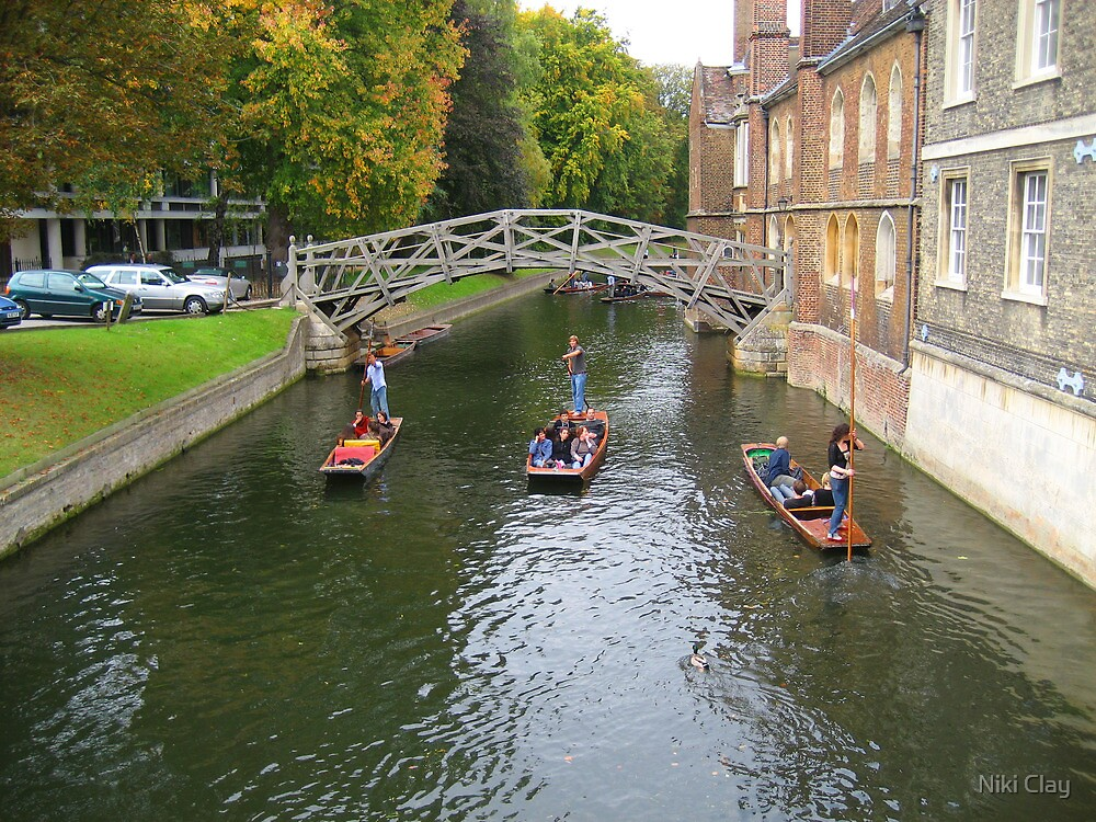 Punting in Cambridge by Niki Clay