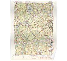 Massachusetts  USGS Historical Topo Map MA Norton 352008 1944 31680 Poster
