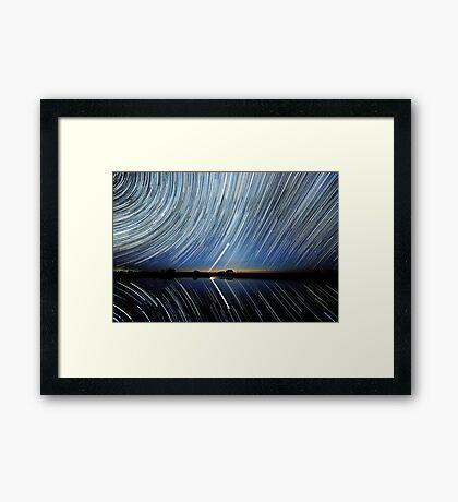 Lake Tyrrell. Reflections. Framed Print