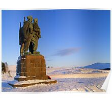 Commando Memorial in snow Poster