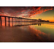 Oceanside Pier at Sunset Photographic Print