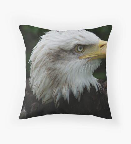 Eagle Profile Throw Pillow