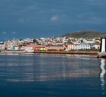Leaving Saint-Pierre Harbour in a Zodiac by Mark Prior